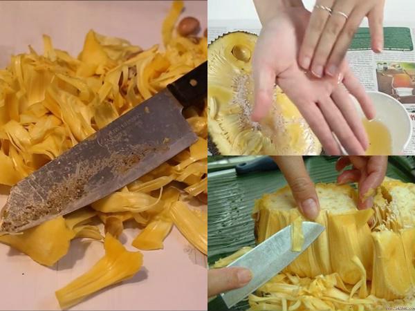 Mẹo Làm sạch nhựa mít dính trên dao