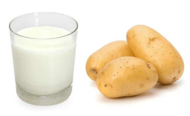 Mặt nạ sữa tươi không đường và khoai tây